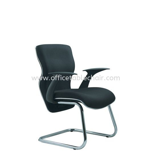 ELIXIR EXECUTIVE VISITOR CHAIR C/W CHROME TRIMMING LINE ACL 664