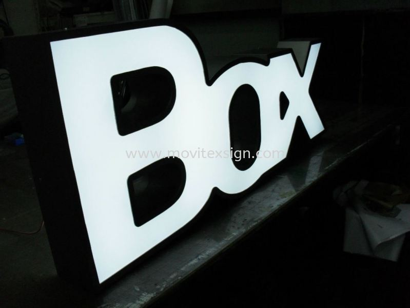 Acrylic 3D led lighting box lettering /night  effect (click for more detail) 3D Lettering with LED Light Johor Bahru (JB), Johor, Malaysia. Design, Supplier, Manufacturers, Suppliers | M-Movitexsign Advertising Art & Print Sdn Bhd