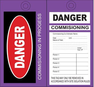 Cirlock Commissioning Tags - COMMISSIONING IN PROGRESS Tags Lockout / Tagout Selangor, Malaysia, Kuala Lumpur (KL), Shah Alam Supplier, Suppliers, Supply, Supplies   Safety Solutions (M) Sdn Bhd