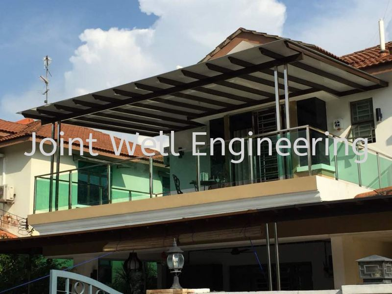 Stainless steel Frame Aluminium Composite Panel Stainless Steel Awning Johor Bahru (JB), Johor Installation, Supplier, Supplies, Supply | Joint Well Engineering