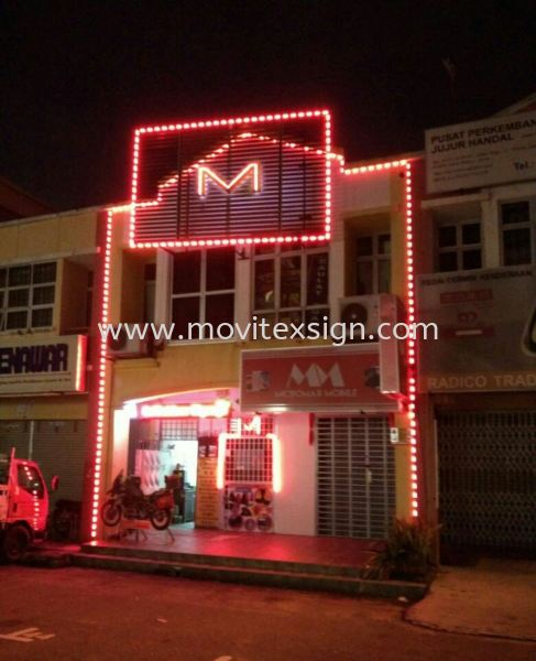 LED frame lighting and LED neon will bring a good visual effect to your signboard outdoor (click for more detail) LED Signage LED Signage and Neon Signboard Johor Bahru (JB), Johor, Malaysia. Design, Supplier, Manufacturers, Suppliers | M-Movitexsign Advertising Art & Print Sdn Bhd