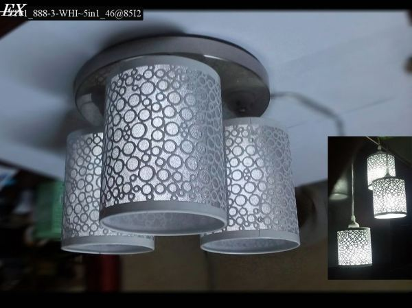 ST01_888-3-WHI~5in1_46@85I2 Close-To-Ceiling Light Johor Bahru (JB), Johor, Malaysia. Supplier, Suppliers, Supplies, Supply | HT Lighting Sdn Bhd
