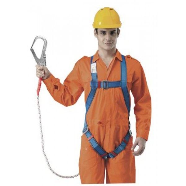 Full Body Harness Built-in Lanyard & Large Hook Fall Protection Equipments Selangor, Malaysia, Kuala Lumpur (KL), Shah Alam Supplier, Suppliers, Supply, Supplies | Safety Solutions (M) Sdn Bhd