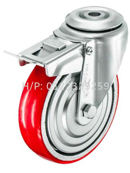 BOLT HOLE Type RPU Swivel Polyurethane (PU) Medium Duty (200kg-500kg) Castor & Wheel Malaysia, Melaka Supplier, Suppliers, Supply, Supplies | Multi Trolley (Melaka) Sdn Bhd