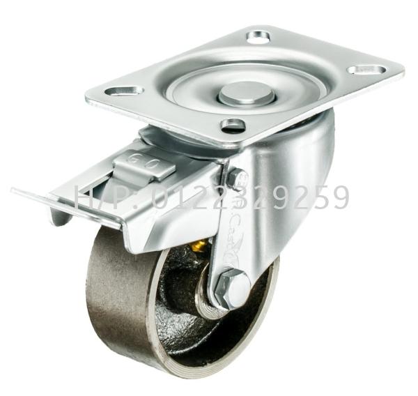 EURO Type Cast Iron Brake Cast Iron Medium Duty (200kg-500kg) Castor & Wheel Malaysia, Melaka Supplier, Suppliers, Supply, Supplies | Multi Trolley (Melaka) Sdn Bhd
