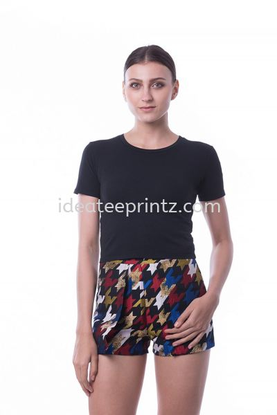 WRC Round Neck Crop Top 10 Pirate Black Ladies' Collection Essential Cotton Rightway Apparel Kuala Lumpur (KL), Malaysia, Selangor, Cheras, Kepong Supplier, Suppliers, Supply, Supplies | Win Work Marketing