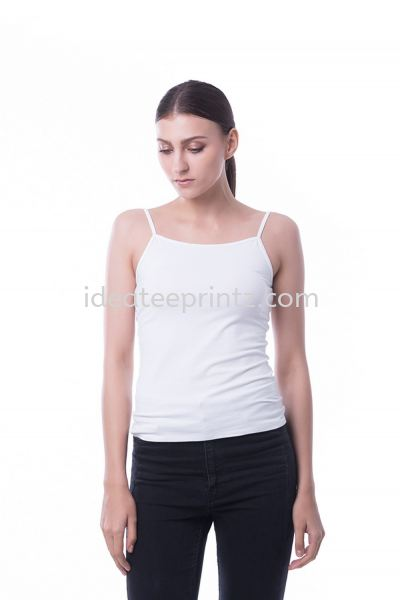 WSS Spaghetti Strap 00 Snowy White Ladies' Collection Essential Cotton Rightway Apparel Kuala Lumpur (KL), Malaysia, Selangor, Cheras, Kepong Supplier, Suppliers, Supply, Supplies | Win Work Marketing