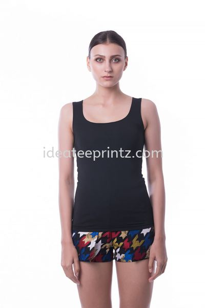 WST Singlet Top 10 Pirate Black Ladies' Collection Essential Cotton Rightway Apparel Kuala Lumpur (KL), Malaysia, Selangor, Cheras, Kepong Supplier, Suppliers, Supply, Supplies | Win Work Marketing