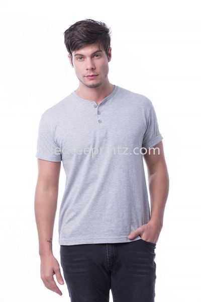 MBT Button Top 05 Grey Melange Men's Collection Essential Cotton Rightway Apparel Kuala Lumpur (KL), Malaysia, Selangor, Cheras, Kepong Supplier, Suppliers, Supply, Supplies | Win Work Marketing