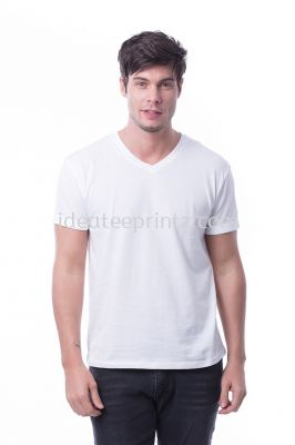 MVN V Neck 00 Snowy White