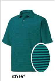 FJ MODEL 32856 Stretch Lisle Feeder Stripe, Self Collar Emerald/Navy