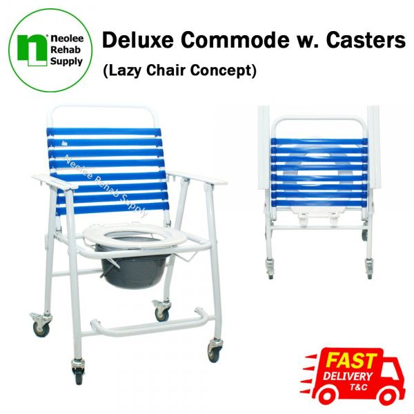 NL005 Deluxe Commode (Castors) Incontinence Care Kuala Lumpur, KL, Cheras, Selangor, Malaysia. Supplier, Suppliers, Supplies, Supply | Neolee Rehab Supply Sdn Bhd