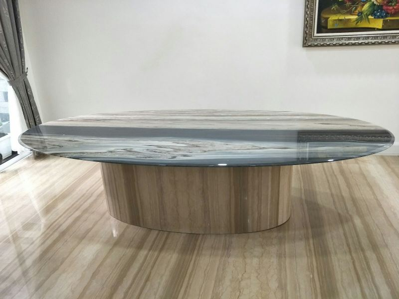 Oval Shape Marble Dining Table Marble Dining Table Selangor, Kuala Lumpur (KL), Malaysia Supplier, Suppliers, Supply, Supplies   DeCasa Marble Sdn Bhd