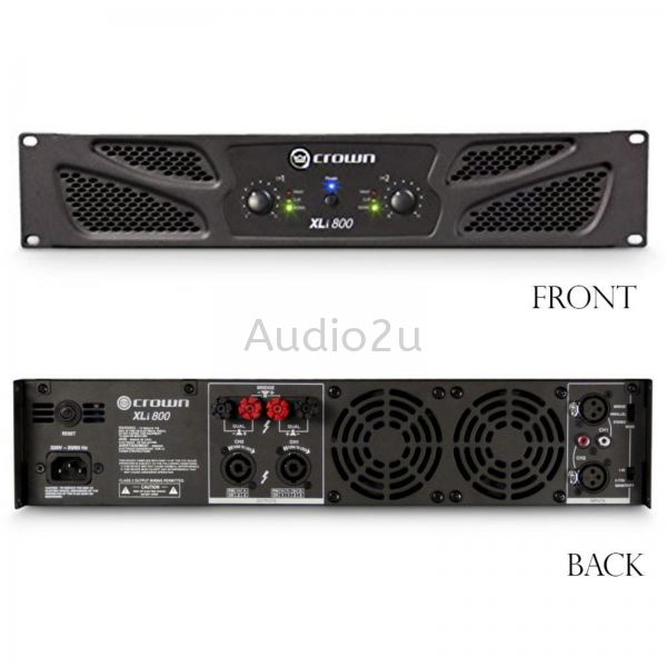 Crown XLi 800 Power Amp Crown Power Amplifier Pro Sound PA System Penang, Malaysia, Georgetown Supplier, Suppliers, Supply, Supplies   Dragonfly Audio Centre