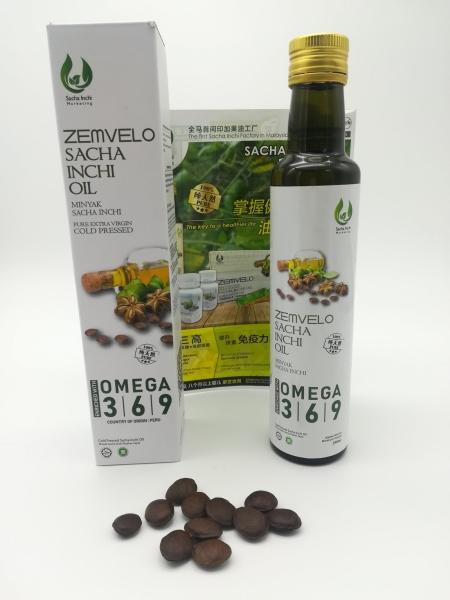 High Quality Sacha Inchi Oil 250ml (Brand: ZEMVELO) - RM 158 Others Malaysia, Johor Bahru (JB) Supplier, Suppliers, Supply, Supplies | Sacha Inchi Marketing Sdn Bhd