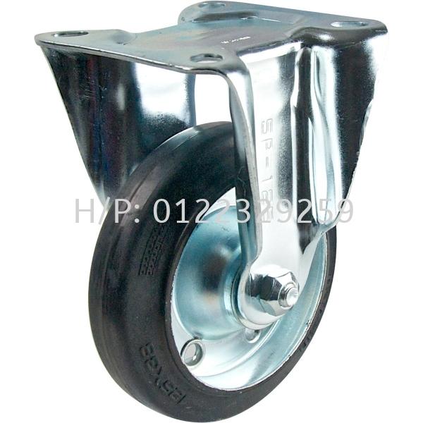Nansin SKC Rubber Rigid Rubber - Nansin Medium Duty (200kg-500kg) Castor & Wheel Malaysia, Melaka Supplier, Suppliers, Supply, Supplies | Multi Trolley (Melaka) Sdn Bhd