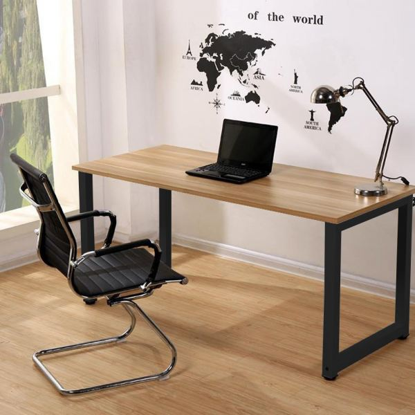 Black Steel Designer Table/ Study Table/ Computer Table (Light Brown) Office Table Office Furniture Malaysia, Selangor, Kuala Lumpur (KL) Supplier, Suppliers, Supply, Supplies | Like Bug Sdn Bhd