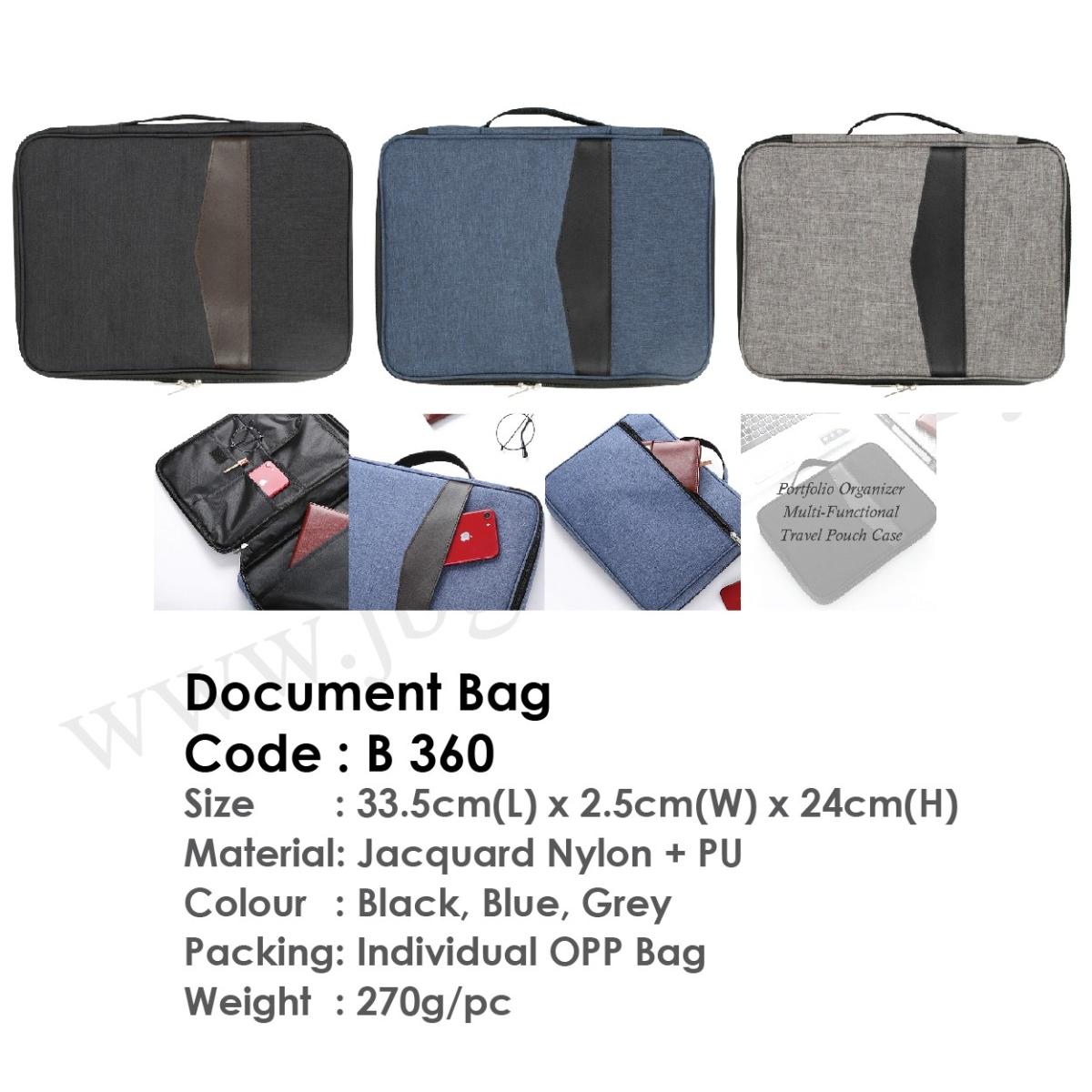 Document Bag B360 Document Bag Bag Johor Bahru (JB), Malaysia Supplier, Suppliers, Supply, Supplies | JB GIFT & SOUVENIR (M) SDN BHD