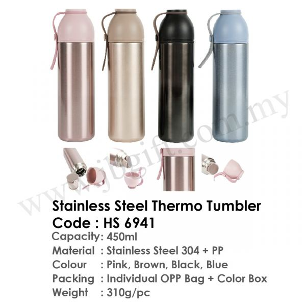 Stainless Steel Thermo Tumbler HS 6941 Flask Drinkwares Malaysia Johor Bahru JB Supplier, Supply, Supplies | JB Gift & Souvenir