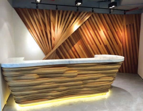 Reception Counter Westgate Jurong, Singapore Projects Malaysia, Johor Bahru (JB), Singapore, Masai Manufacturer, Supplier, Supply, Supplies | Timber Decor Manufacture Sdn Bhd