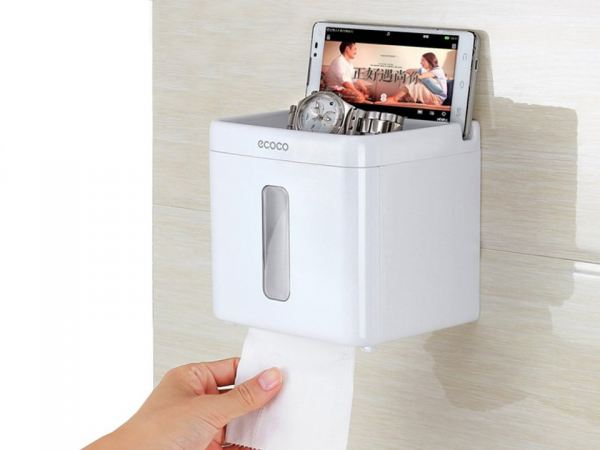 ECOCO Self Adhesive Toilet Paper Holder Wall Mount Contemporary Style Paper Towel Dispenser Bathroom Accessories Bedroom Malaysia, Selangor, Kuala Lumpur (KL) Supplier, Suppliers, Supply, Supplies | Like Bug Sdn Bhd