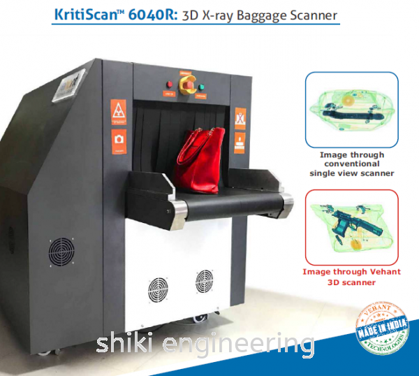 KRITISCAN 6040R - 3D X-RAY BAGGAGE SCANNER X-Ray Detection System Selangor, Malaysia, Kuala Lumpur (KL), Klang Supplier, Suppliers, Supply, Supplies | Shiki Engineering & Services Sdn Bhd