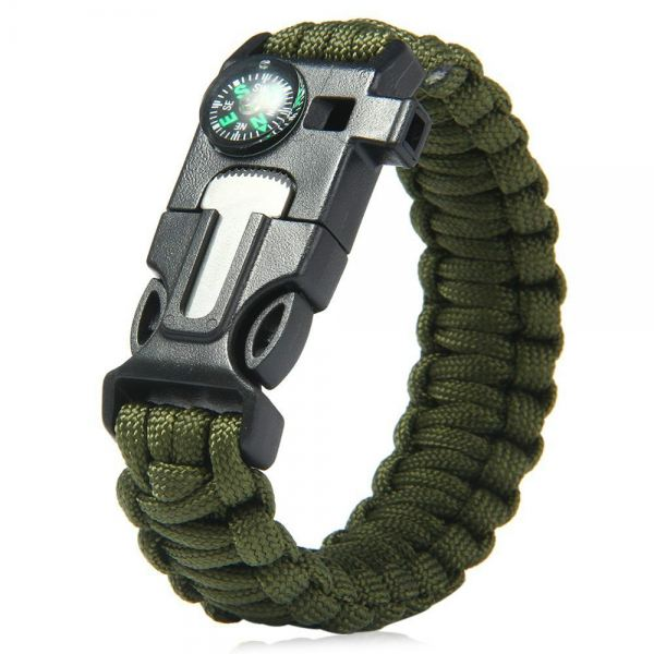 5 in 1 Outdoor Survival Paracord Bracelet-Flint Starter, Compass, Whistle, Paracord Rope (Green) Hardware & Fitness Malaysia, Selangor, Kuala Lumpur (KL) Supplier, Suppliers, Supply, Supplies | Like Bug Sdn Bhd