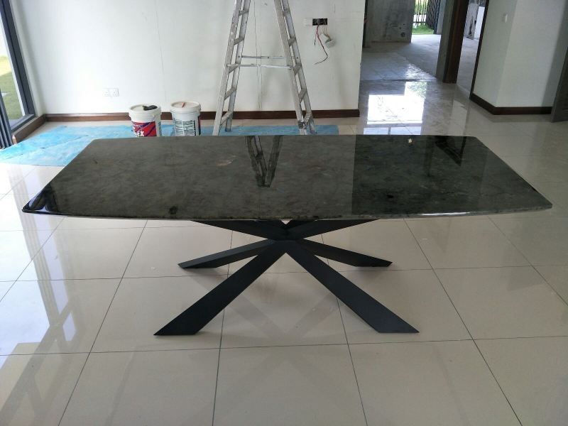 Dark Marble Granite Dining Table  Marble Dining Table Selangor, Kuala Lumpur (KL), Malaysia Supplier, Suppliers, Supply, Supplies | DeCasa Marble Sdn Bhd