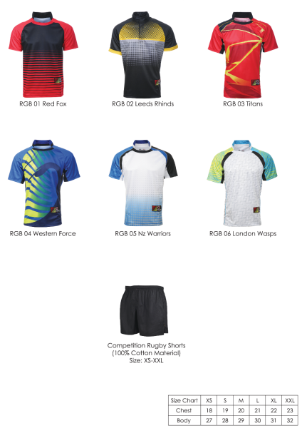 SUBLIMATION RUGBY (DRY FIT) JERSEY / RUNNING ATTIRE ARORA SPORTS T-SHIRT CATALOG Selangor, Malaysia, Kuala Lumpur (KL), Seri Kembangan Supplier, Supply, Service | Ombak Groups Sdn Bhd
