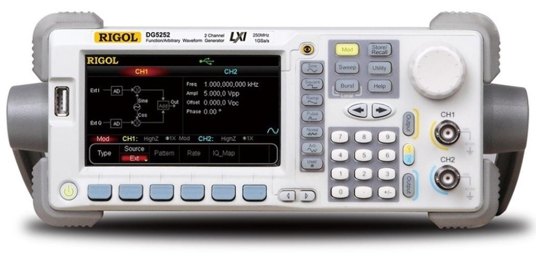Rigol DG5252 Arbitrary Waveform Function Generator 250 MHz 2 Channels