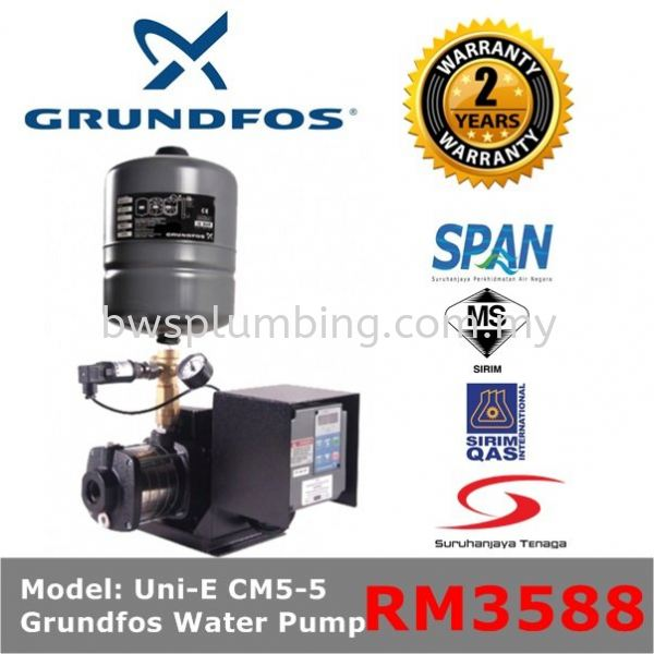 Grundfos UNI-E CM5-5 Variable Speed Water Pressure Booster Pump  Grundfos Water Pressure Pump Selangor, Malaysia, Melaka, Kuala Lumpur (KL), Seri Kembangan Supplier, Supply, Repair, Service | BWS Sales & Services Sdn Bhd