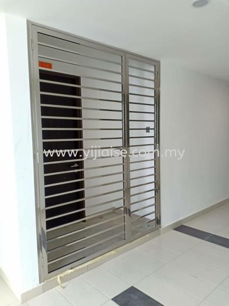 OPEN DOOR Single Door Door Stainless Steel Works Johor Bahru (JB), Malaysia, Skudai, Taman Pelangi Service, Contractor   Yijia Iron Steel Engineering Sdn Bhd