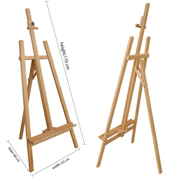 Easel Stand (Wood) 120 height cm Easel Stand Series Exhibition Dispaly System Selangor, Malaysia, Kuala Lumpur (KL), Puchong Supplier, Manufacturer, Supply, Supplies | Oak Leaf Printing & Advertising Sdn Bhd
