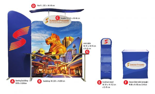 Tension Fabric System Module Set Series Tension Fabric Backdrop Series Exhibition Dispaly System Selangor, Malaysia, Kuala Lumpur (KL), Puchong Supplier, Manufacturer, Supply, Supplies | Oak Leaf Printing & Advertising Sdn Bhd