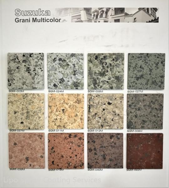 Patterns & Colours 2 Grani Multicolor Johor Bahru JB Malaysia Supplier & Supply | Lipo Spray Coating Services