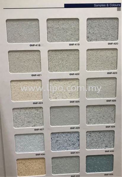 Samples & Colours 2  SK Multi-Fancy Johor Bahru JB Malaysia Supplier & Supply | Lipo Spray Coating Services