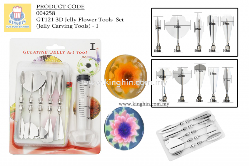 3D Jelly Flower Tools Set - I 3D Jelly Tools Set Baking Tools Melaka, Malaysia Supplier, Suppliers, Supply, Supplies | Kinghin Sdn Bhd