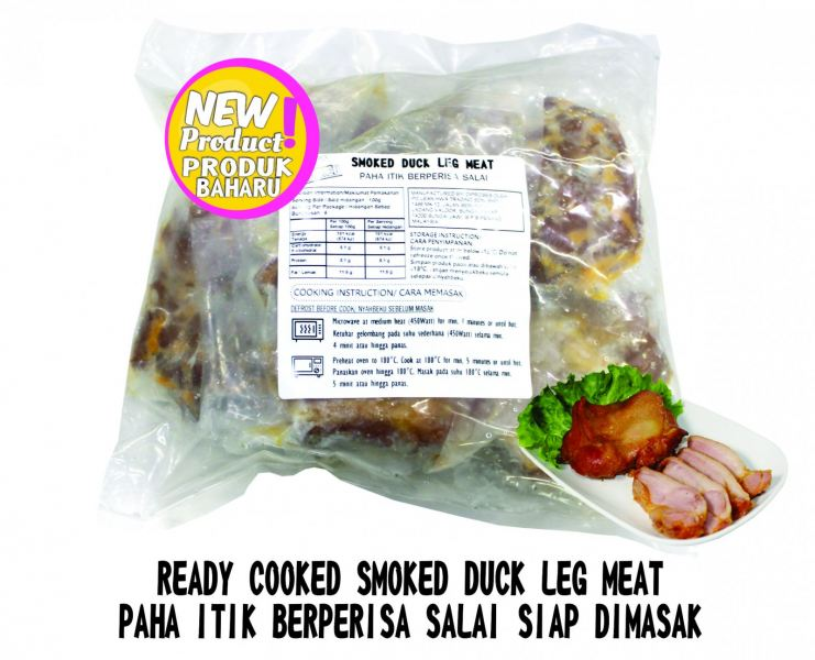 READY COOKED SMOKED DUCK LEG MEAT Ready Cooked Duck Products Penang, Pulau Pinang, Malaysia Supplier, Suppliers, Supply, Supplies   PG Lean Hwa Trading Sdn Bhd