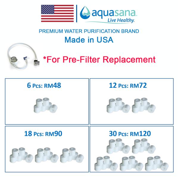 AQUASANA DVPI Pre-Filter Replacement Filter 6 Pcs Replacement Cartridge Malaysia, Selangor, Kuala Lumpur (KL), Puchong Distributor, Supplier, Supply, Supplies | Water Shop (M) Sdn Bhd