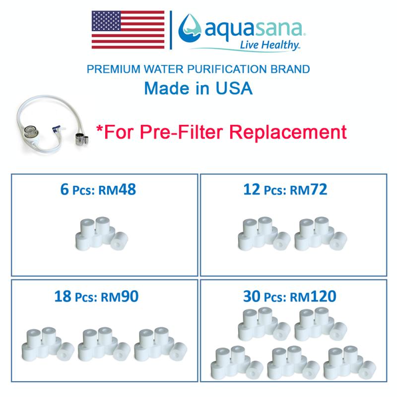 AQUASANA DVPI Pre-Filter Replacement Filter 6 Pcs