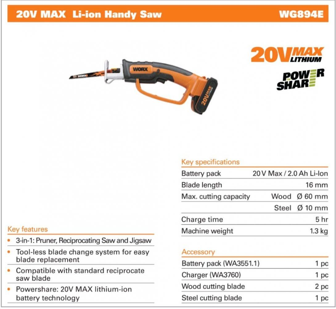 WORX HANDY SAW WG-894E