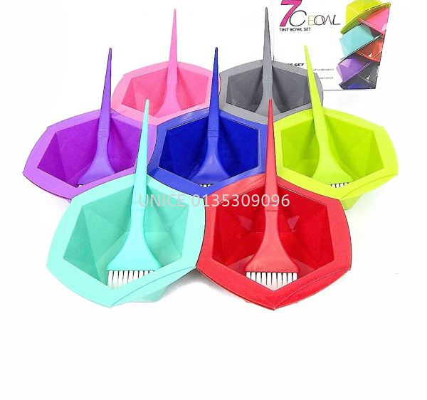 Tint Bowl Set (7pcs Set) Tools & Accessories  HAIR ACCESSORIES Johor Bahru JB Malaysia Supplier & Wholesaler | UNICE MARKETING SDN BHD