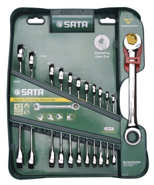 Sata 09066 Double Ratcheting Wrench Set ID30487