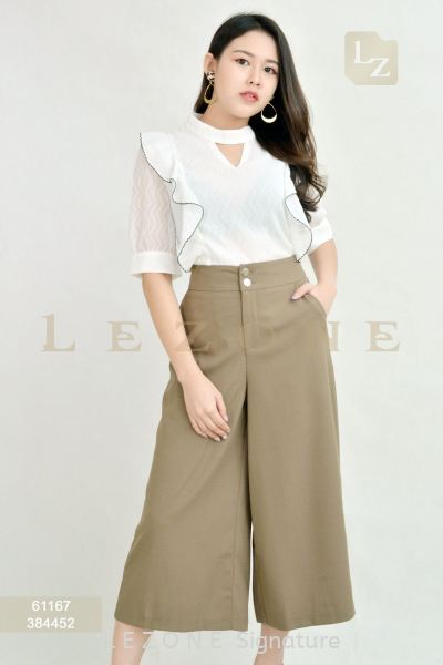 384452 SIDE BUTTON DETAIL CULOTTES¡¾ONLINE EXCLUSIVE 35%¡¿ Bottoms On Sale S A L E  Selangor, Kuala Lumpur (KL), Malaysia, Serdang, Puchong, Cheras Supplier, Suppliers, Supply, Supplies | LE ZONE Signature
