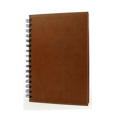 Leather Wire-O Notebook NoteBooks / Diaries Office Supplies Singapore Supplier, Suppliers, Supply, Supplies   Gifts Design Pte Ltd