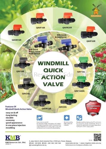 Windmill Quick Action Valve