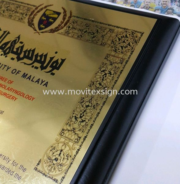 plaque sign with solid wood base Ceremonial Plaque Johor Bahru (JB), Johor, Malaysia. Design, Supplier, Manufacturers, Suppliers | M-Movitexsign Advertising Art & Print Sdn Bhd