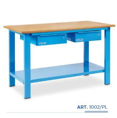 OMCN WORKBENCH WITH WOODEN BENCH-TOP & 2 DRAWERS - L1500 X W700 X H850MM (ITALY), WB1002/PL WORKSHOP TOOLS MANUAL TOOLS Singapore, Kallang Supplier, Suppliers, Supply, Supplies | DIYTOOLS.SG