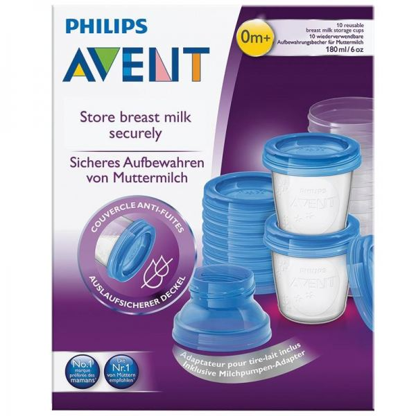 AVENT BREAST MILK STORAGE CUPS 10'S (SCF618/10) Accessories Avent Kuala Lumpur (KL), Selangor, Malaysia. Supplier, Suppliers, Supplies, Supply | Baby & Me