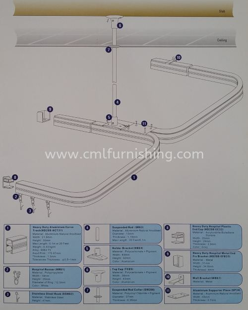hospital-curtain-track-heavy-duty